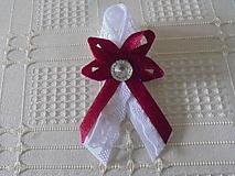 Pierka - Svadobné pierko pre hostí,bieloBordové - 10282606_
