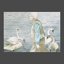 Obrazy - Paní Nováková - originál, akvarel - 10281254_