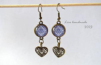 Náušnice - Modrý ornament - 10283357_