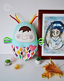Hračky - Vesmírny chrobáčik mentolovo cukríkový - hrkálka - 10283856_