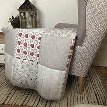 Úžitkový textil - Vzor vintage - Anjelik  (Prehoz 110 x 200 cm) - 10283728_