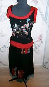 Sukne - folk, set sukňa ,pleckohrej a tričko +rukávy - 10284600_