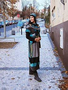 Šaty - lelošatky zimné, čiapka a tunel - 10284386_