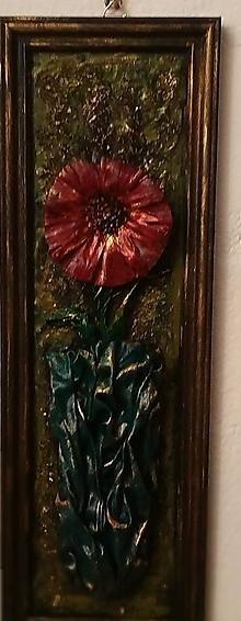 Obrazy - Červený kvet - 10283652_