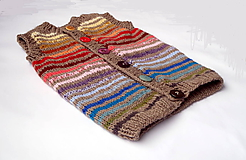 Detské oblečenie - Vestička z alpaky - 10284278_