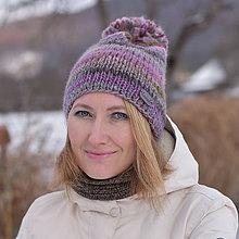 Čiapky - Zľava z 24 na 20 eur-Fialovo-ružová čiapka - 10285104_