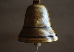 Dekorácie - Zvonček z bukového dreva - 10284087_