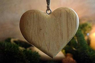Dekorácie - Drevené srdiečka (9 x 8 x 2 - Hnedá) - 10284206_