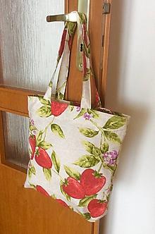 Nákupné tašky - taška jahody - 10283442_