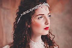 """Ozdoby do vlasov - biela čipkovaná tiara/choker white dream - """"čas čipky"""" - 10285387_"""