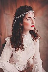 """Ozdoby do vlasov - biela čipkovaná tiara/choker white dream - """"čas čipky"""" - 10285390_"""