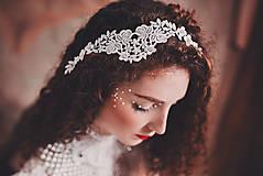 """Ozdoby do vlasov - biela čipkovaná tiara/choker white dream - """"čas čipky"""" - 10285433_"""
