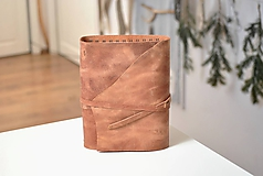 Papiernictvo - Kombinovaný kožený zápisník BENTON - 10283268_