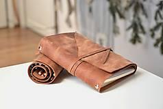 Papiernictvo - Kombinovaný kožený zápisník BENTON - 10283270_
