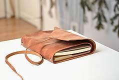 Papiernictvo - Kombinovaný kožený zápisník BENTON - 10283275_
