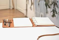Papiernictvo - Kombinovaný kožený zápisník BENTON - 10283276_