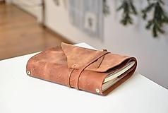 Papiernictvo - Kombinovaný kožený zápisník BENTON - 10283279_