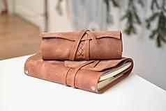 Papiernictvo - Kombinovaný kožený zápisník BENTON - 10283280_