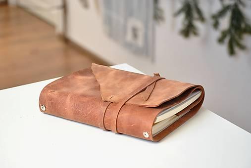 Kombinovaný kožený zápisník BENTON