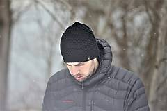 Doplnky - ...pánska čiapka 100% MERINO vlna BLACK - 10285457_