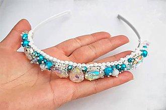 Iné šperky - šitá korálková korunka - 10284283_