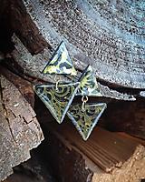 Náušnice - Minimalistické visiace náušnice - trojuholník - 10283911_