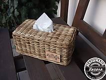 Krabičky - Obal na papierové vreckovky - 10283826_