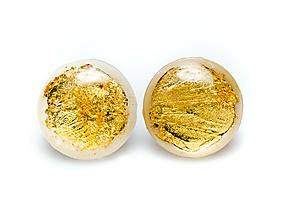 Náušnice - Kaaty  náušnice perleť/zlato - 10284025_