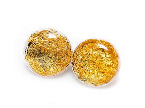 Náušnice - Kaaty náušnice  perleť/zlato - 10284038_