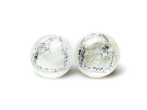 Náušnice - Kaaty náušnice perleť/striebro Srdce - 10284176_