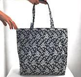 Nákupná taška modrotlač ružičky