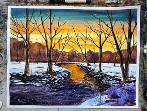 Obrazy - Slnkom zaliata krajina - 10283782_