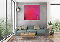Špirály lásky - Veľký červený abstraktný obraz