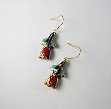 Náušnice - Tana šperky - keramika/zlato - 10282884_