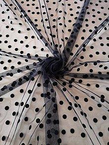 Textil - Tyl s bodkami 50%Zľava - 10283435_