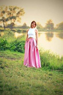 Sukne - MAXI skladaná sukňa  (obvod pásu do 80cm) - 10282814_
