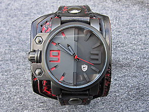 Náramky - kožený remienok pre hodinky Shark - 10285054_