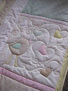 Úžitkový textil - dievčenský prehoz - 10284107_