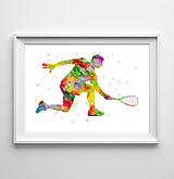 Grafika - Hráč squashe - 10283074_