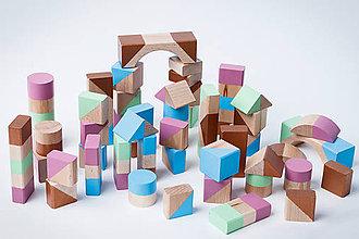 Hračky - Drevené kocky, stavebnica - 10283656_