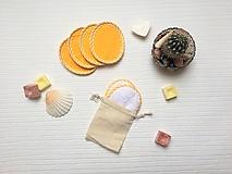 Úžitkový textil - Eko odličovacie tampóny - žlté - 10284026_