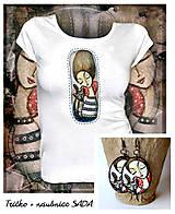 Tričká - Sada Catlover - tričko + náušnice - 10284652_