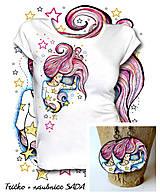 Sada Stars - tričko + náušnice