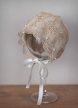 Detské čiapky - čepček (nielen) na krst - 10284778_