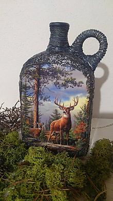 Nádoby - Fľaša pre poľovníka - 10283014_