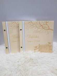 Papiernictvo - Drevený fotoalbum SPOMIENKA - 10284956_