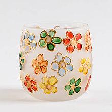 Svietidlá a sviečky - VÝPREDAJ - Kvety - svietnik alebo vázička?:) - 10285142_