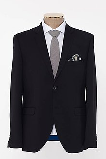 Oblečenie - LUXEMBOURG čierny oblek - 10284403_