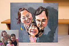 Obrazy - Karikatúra podľa fotky (Maľované na plátne (farebne, 1 tvár)) - 10283451_