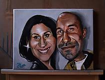Obrazy - Karikatúra podľa fotky (Maľované na plátne (farebne, 1 tvár)) - 10283452_